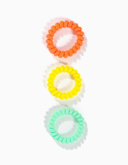 3 Gomas del Pelo para Niña, Multicolor
