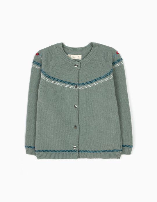 Casaco de Lã Menina Verde B&S