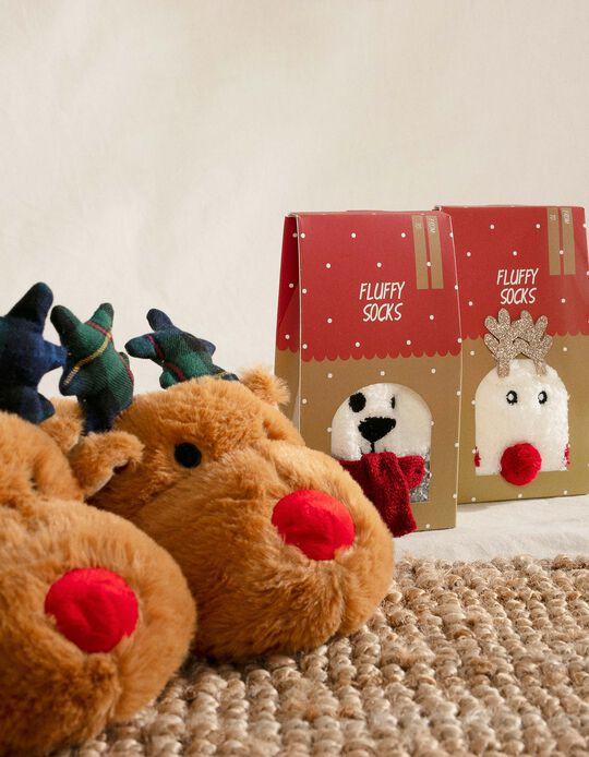 Pantufas para Criança ' Christmas Reindeer', Castanho