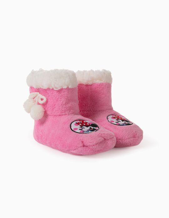 Zapatillas de Casa de Caña Alta para Niña 'Minnie', Rosa
