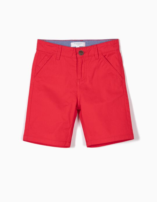 SHORTS WOVEN BEIGE A, LIGHT RED1, 4/5