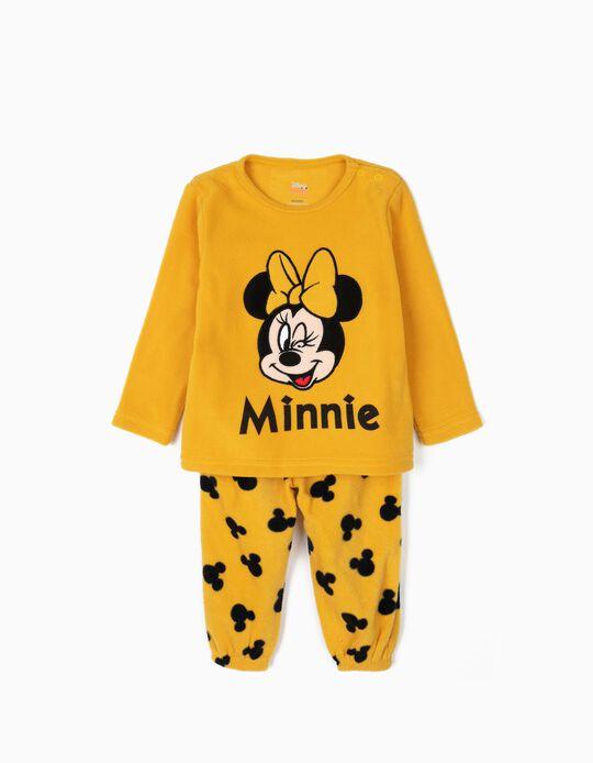 Pijama Polar para Bebé Menina 'Minnie', Amarelo