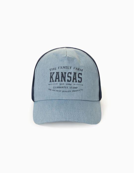 Gorra Bicolor para Bebé y Niño 'Kansas', Azul Claro/Azul Oscuro