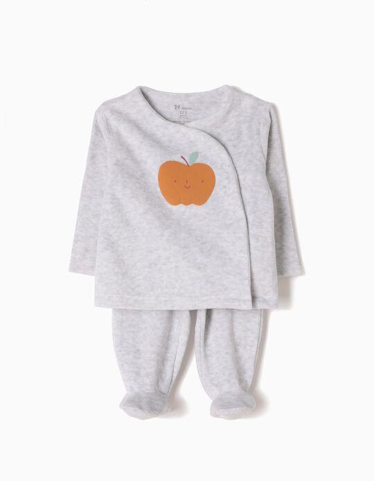 Pijama de Manga Larga y Pantalón de Terciopelo Apple