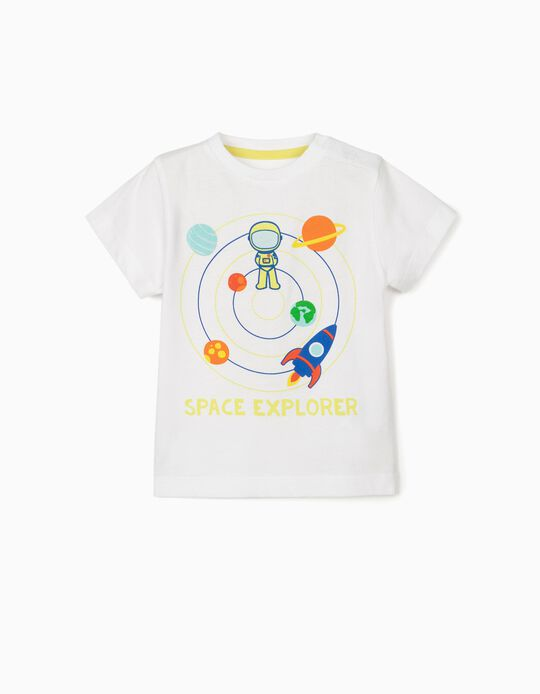 T-shirt for Baby Boys, 'Space Explorer', White