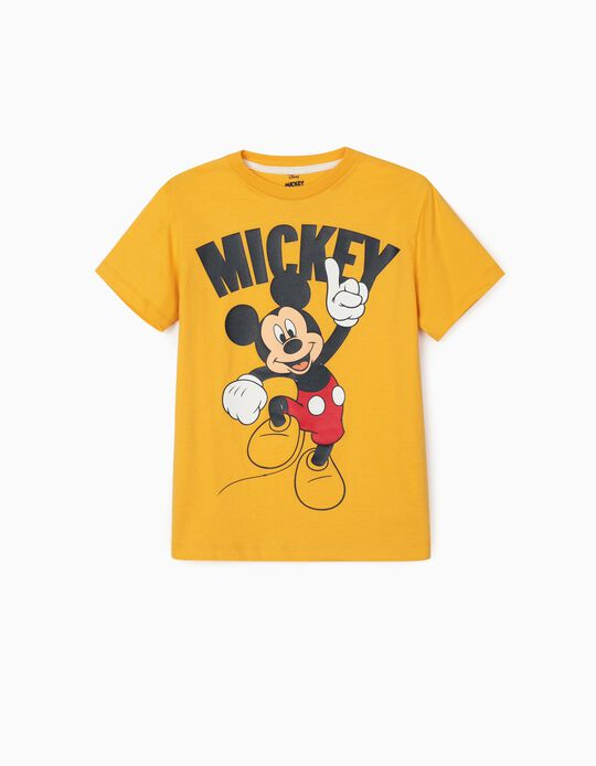 T-shirt for Boys, 'Mickey', Yellow