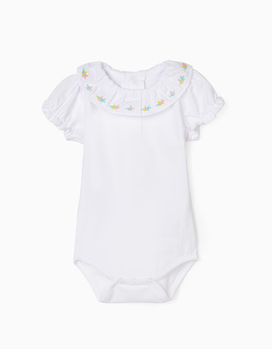 Body bébé fille 'Flowers', blanc