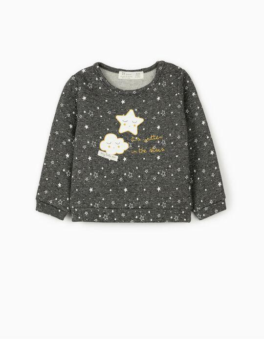 Sweatshirt para Recém-Nascido 'Stars', Cinza