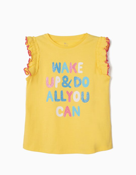 Camiseta para Niña 'Do All You Can', Amarilla