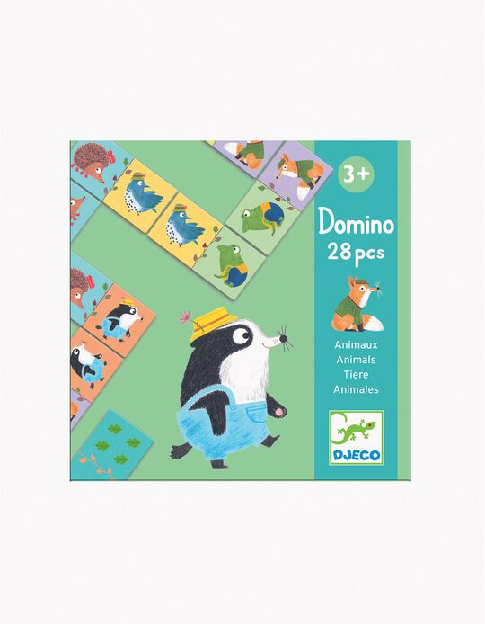 Dominó Animais 28 pcs Djeco