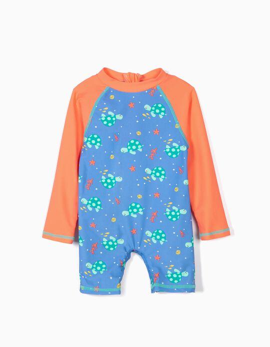 Macacão de Banho para Bebé Menino 'Turtles' Anti-UV 80, Azul