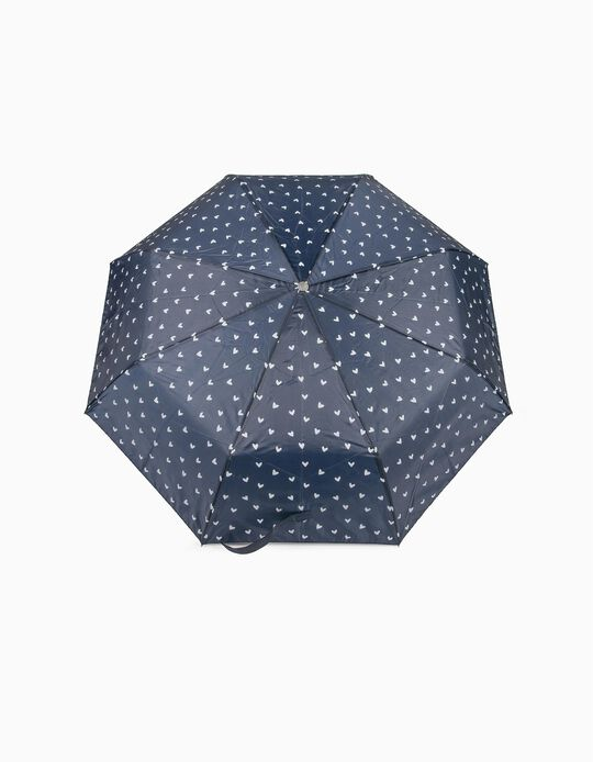 Paraguas Pequeño Corazones Azul