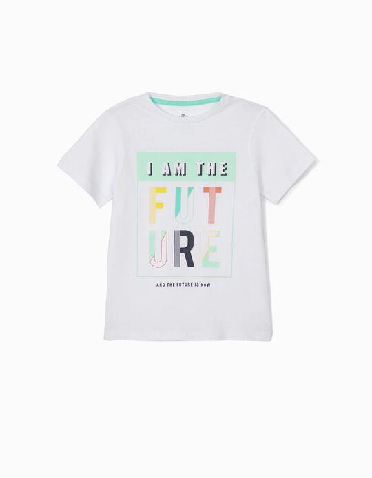Camiseta para Niño 'I am the Future', Blanca