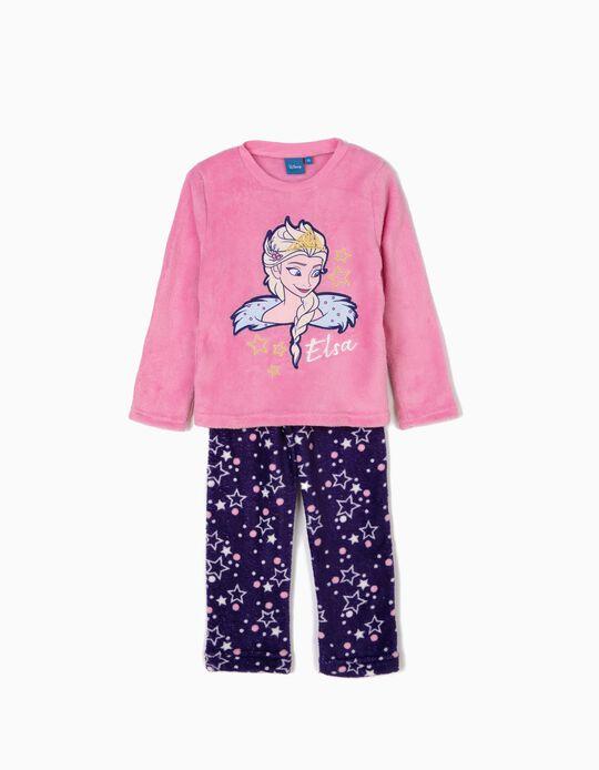 Pijama Elsa Frozen Rosa e Roxo