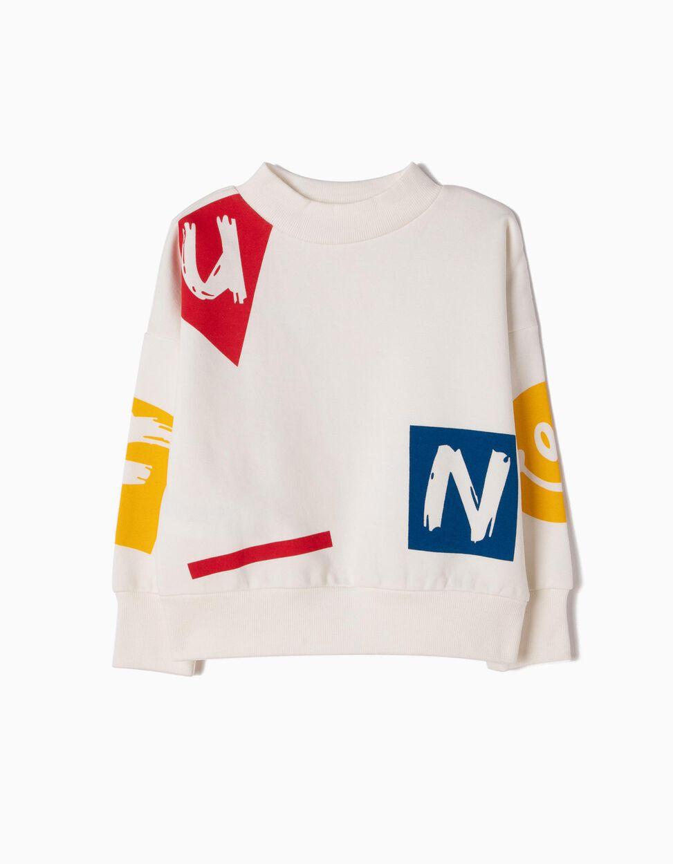 Sweatshirt Branca Fun