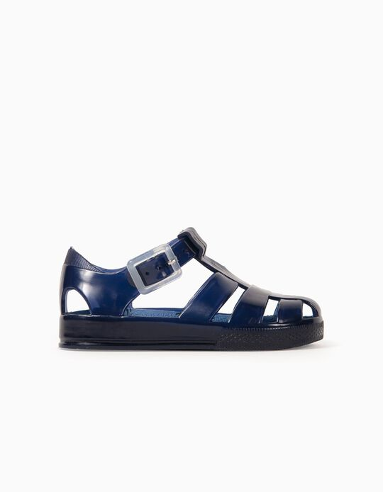 Sandals for Baby Boys, 'Palm Tree', Blue