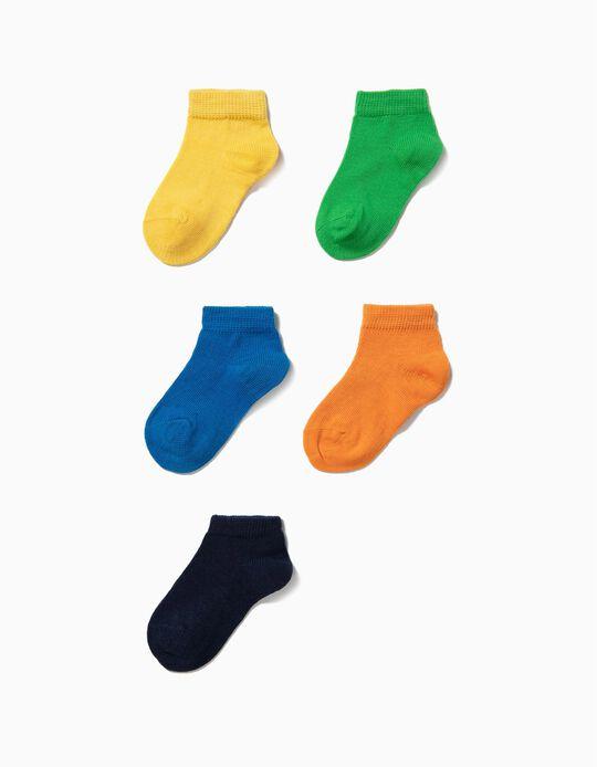 6 Pares de Meias Curtas para Bebé Menino, Multicolor