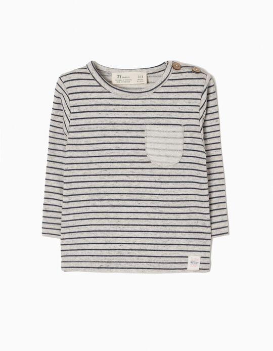 Sweatshirt Estampada com Detalhes Invertidos