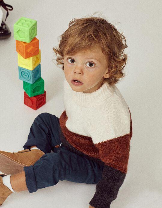 Camisola Malha para Bebé Menino 'B & S', Multicolor