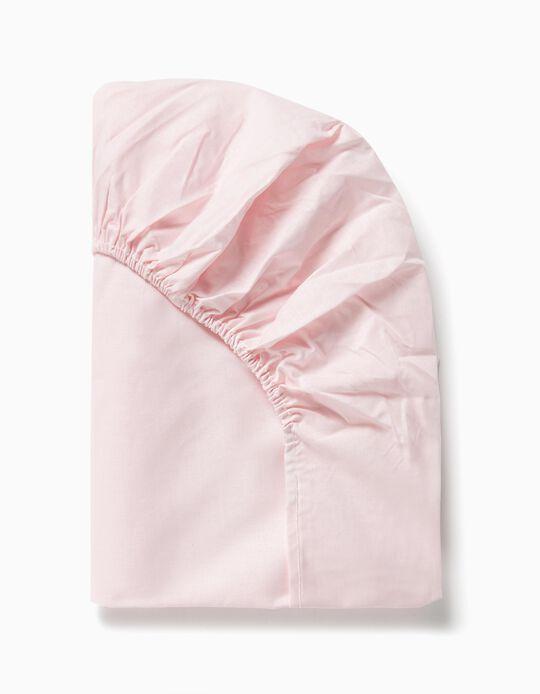 Sábana Ajustable de Cuna 85x55 cm Interbaby Rosa