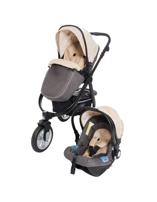 Duo Adventure Travel System by Zy Safe, Grey/Beige