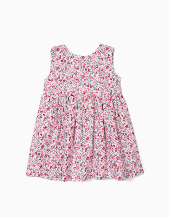 Floral Dress for Baby Girls, White
