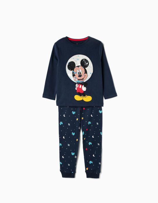 Pijama para Menino 'Mickey Astronaut', Azul Escuro