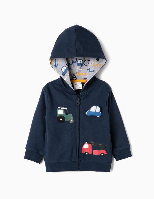 Casaco com Capuz para Bebé Menino 'Cars', Azul Escuro