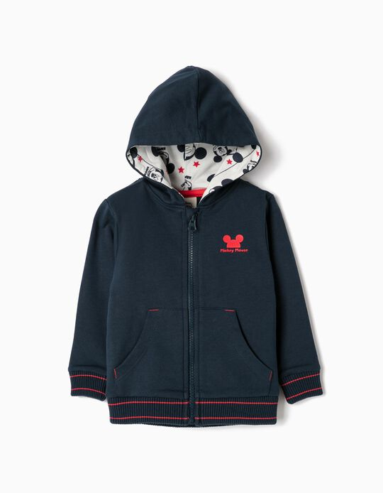 Hooded Jacket for Baby Boys 'Mickey', Dark Blue