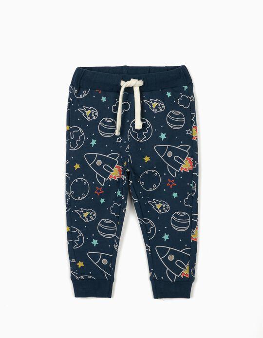 Pantalón de Chándal para Bebé Niño 'Space Boy', Azul