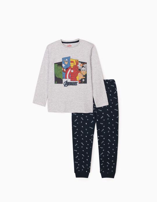 Pyjamas for Boys 'Avengers', Grey/Dark Blue