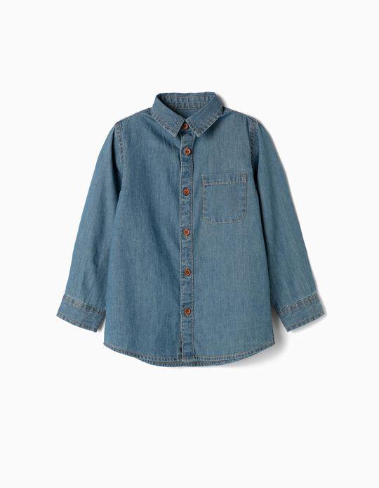 Camisa de Denim para Niño, Azul