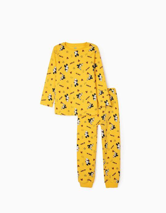 Pyjamas for Boys, 'Mickey Artist', Yellow
