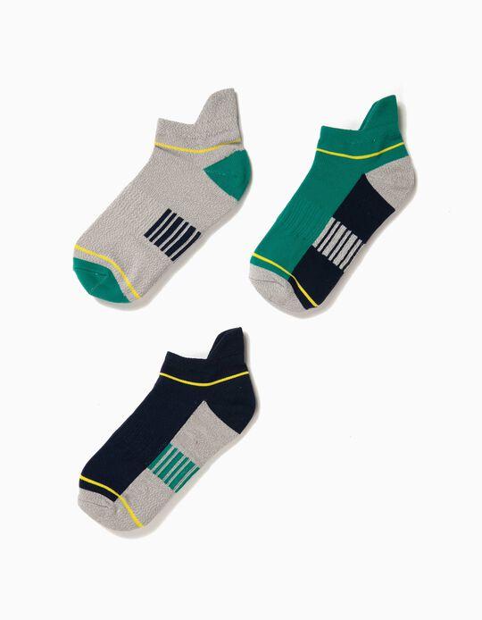 3 Pares de Calcetines de Deporte para Niño, Multicolor