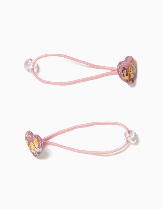 2 Gomas del Pelo para Niña 'Disney Princess', Rosas