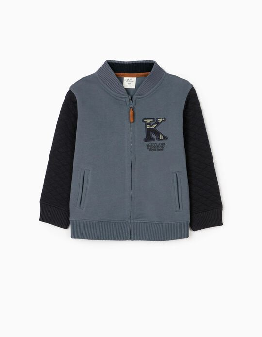Knit Jacket for Boys 'Scotland', Blue