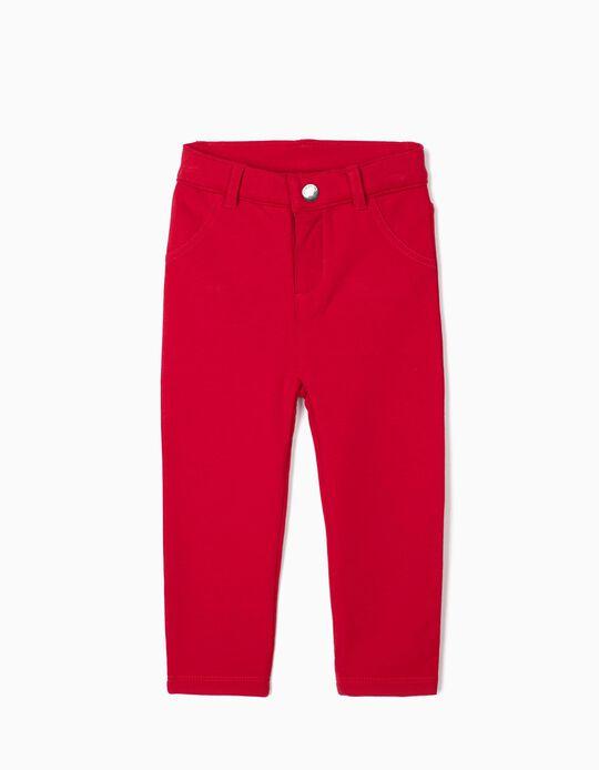 Pantalon bébé fille, rouge