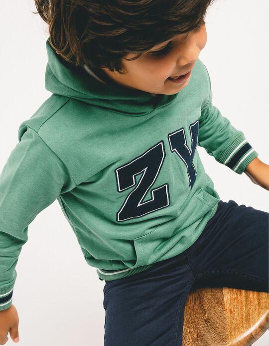 Sweatshirt para Menino 'ZY', Verde