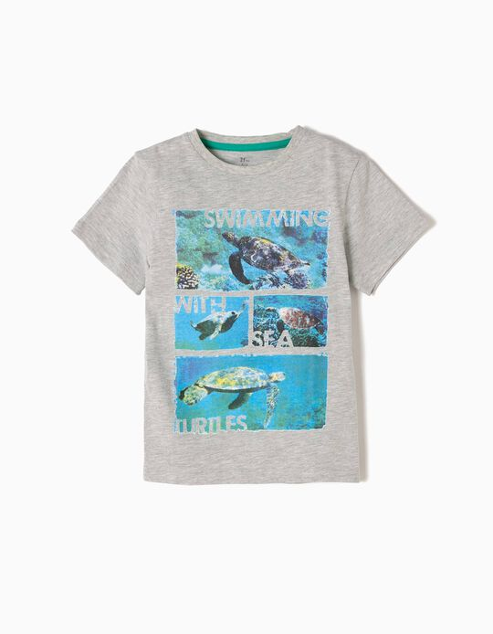 T-shirt Turtles Cinzenta