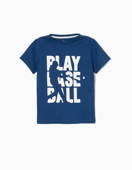 Camiseta Béisbol Azul