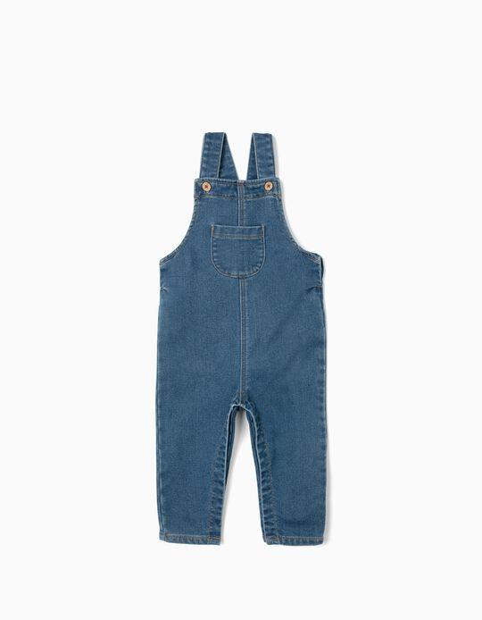 Jardineiras para Bebé Menina 'Comfort Denim', Azul