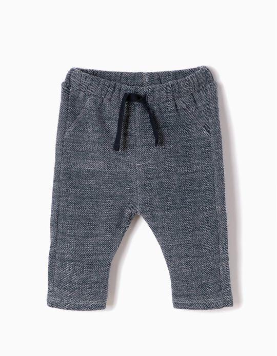Pantalón de Felpa Azul