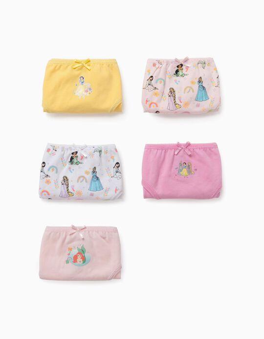 5 Braguitas para Niña 'Disney Princess', Multicolor