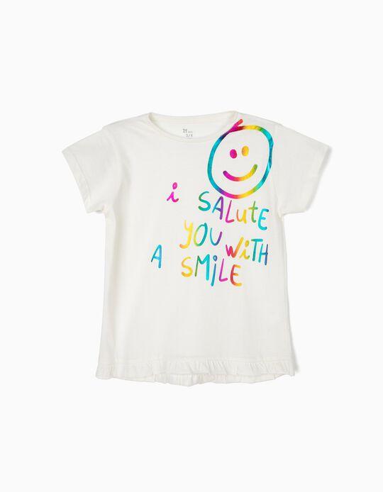 Camiseta para Niña 'Smile', Blanca
