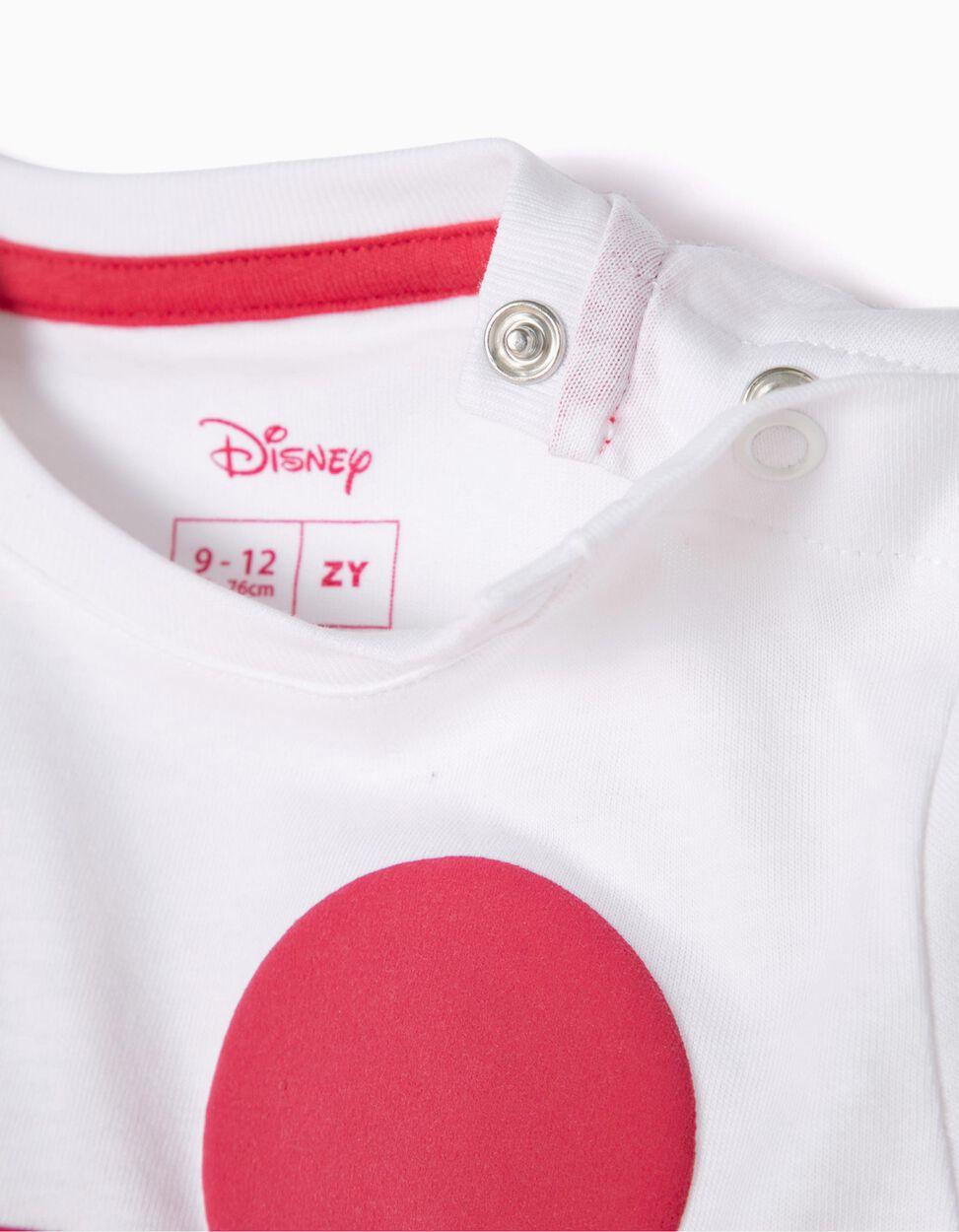 Camiseta Blanca y Azul Mickey