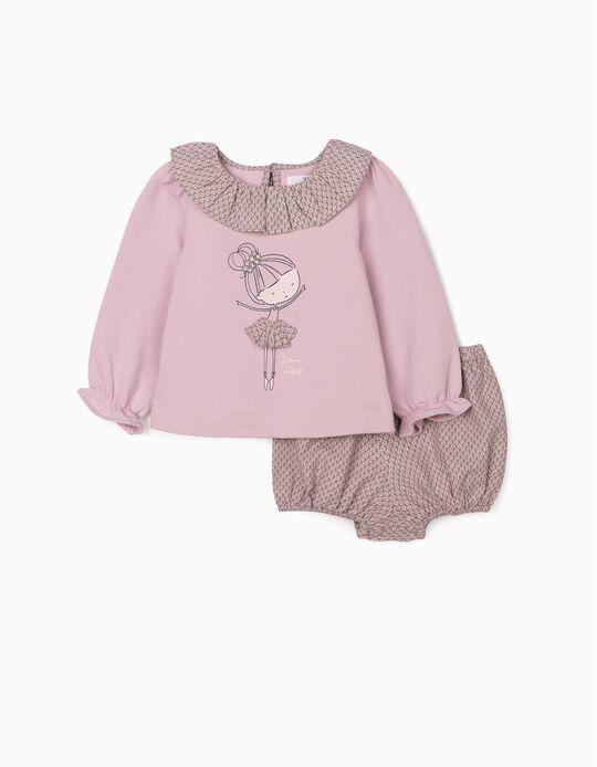 Conjunto 2 Prendas para Bebé Niña, 'Ballerina', Lila