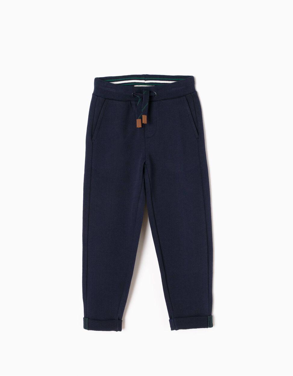 Pantalón de Chándal de Punto Piqué Azul
