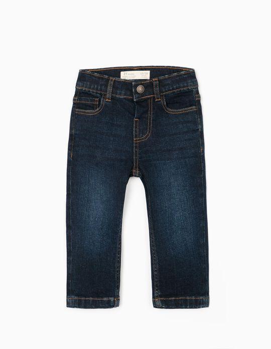 Pantalón Vaquero para Bebé Niño 'Comfort Denim', Azul Oscuro