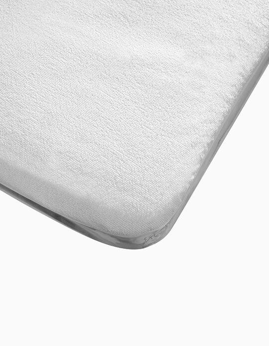 Protector De Colchón Impermeable Para Cuna 85x55cm Interbaby Blanco