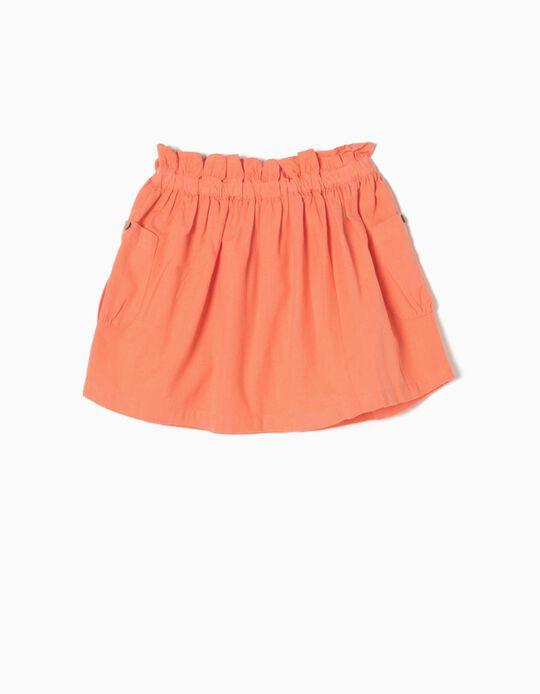 Falda de Lino Coral